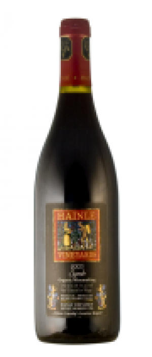 Hainle Vineyards Estate Winery 2003 Hainle Syrah Bottle