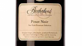 Brotherhood Winery 2013 Pinot Noir Label