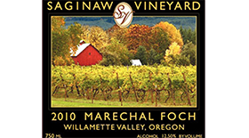 Saginaw Vineyards 2013 Marechal Foch Label