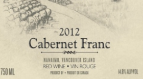 Millstone Estate Winery 2012 Cabernet Franc Label