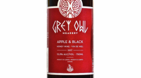 Grey Owl Meadery 2017 Apple & Black Label