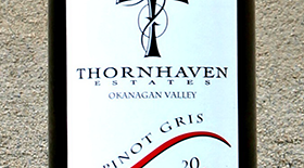 Thornhaven Estates Winery 2012 Pinot Gris (Grigio) Label