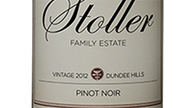 Stoller Vineyards 2012 Pinot Noir Label
