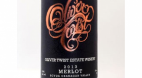 Oliver Twist Estate Winery 2013 Merlot Label