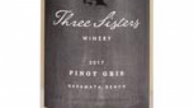 Three Sisters Winery 2017 Pinot Gris Label