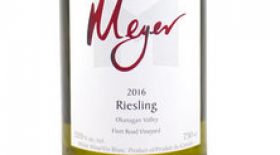 Meyer Family Vineyards 2016 Riesling Label