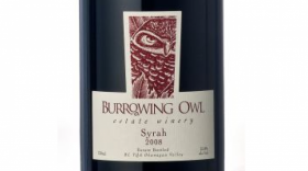 Burrowing Owl Estate Winery 2008 Syrah (Shiraz) Label
