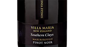Single Vineyard Southern Clays Pinot Noir Label