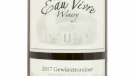 Eau Vivre Winery 2017 Gewürztraminer Label