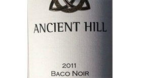 Ancient Hill Estate Winery 2011 Baco Noir Label