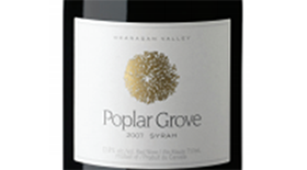 Poplar Grove Winery 2007 Syrah (Shiraz) Label