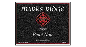Mark's Ridge 2009 Pinot Noir Label