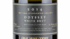 Gray Monk Estate Winery 2015 Odyssey White Brut Label