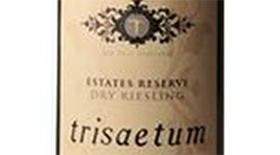 Trisaetum Estates Reserve 2013 Dry Riesling Label