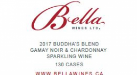 Bella Wines 2017 Buddha's Blend Sparkling Rosé Label