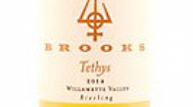 Brooks Tethys 2012 Late Harvest Riesling Label