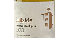 Hillside Winery Reserve Pinot Gris 2011 Label