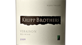 Krupp Brothers Veraison Red Wine, Napa Valley Label