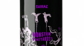 Monster Vineyards NV Shiraz Label