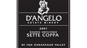 D'Angelo Estate Winery 2007 Riserva Unfiltered Sette Coppa Label