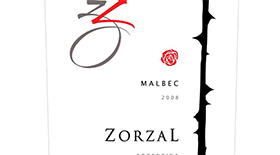 Zorzal Wines 2011 Malbec Label