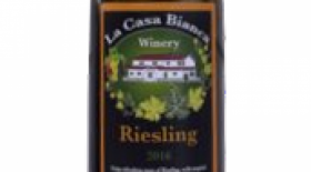 La Casa Bianca Winery 2016 Riesling Label