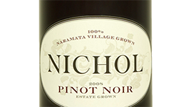Nichol Vineyard 2011 Pinot Noir Label