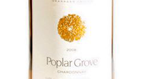 Poplar Grove Winery 2012 Chardonnay Label