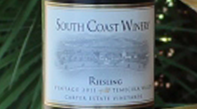South Coast Winery 2012 Riesling Label