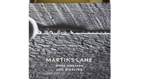 Martin's Lane Winery Simes Vineyard 2015 Riesling Label