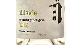 Hillside Winery Unoaked Pinot Gris 2012 Label