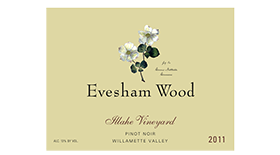 Evesham Wood Vineyard Illahe Vineyard 2012 Pinot Noir Label