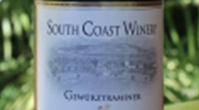 South Coast Winery 2011 Gewürztraminer Label