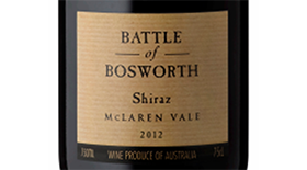Battle of Bosworth 2012 Syrah (Shiraz) Label