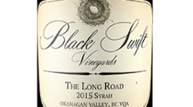 "Black Swift Vineyards 2015 ""Long Road"" Syrah Label"