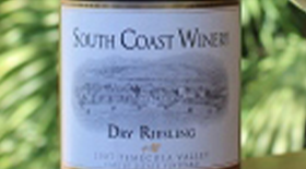 South Coast Winery 2007 Dry Riesling Label