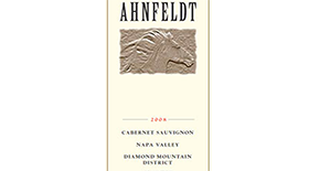 Ahnfeldt Diamond Mountain Cabernet Sauvignon Label