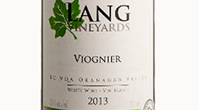 Lang Vineyards 2013 Viognier Label