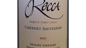 Estate Cabernet Sauvignon, Grigsby Vineyard Label