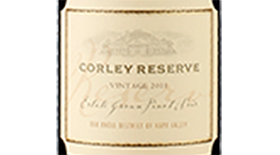 CORLEY Reserve Estate Grown Pinot Noir Label