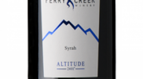 Perry Creek Winery Altitude 2401 2012 Syrah Label