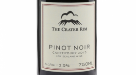 The Crater Rim 2015 Pinot Noir Label