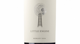 Little Engine Wines 2016 Silver Merlot Label
