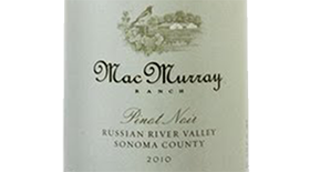 MacMurray Ranch 2010 Pinot Noir | Red Wine