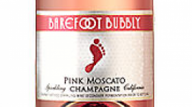 Barefoot Bubbly Pink Moscato Label
