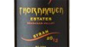 Thornhaven Estates Winery 2012 Syrah (Shiraz) Label