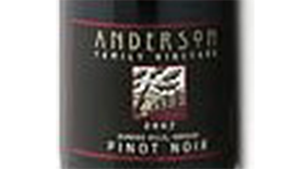 Anderson Winery & Vineyard 2009 Pinot Noir Label