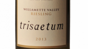Trisaetum 2013 Off-Dry Riesling Label