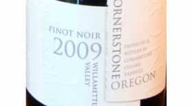 Cornerstone Cellars 2009 Pinot Noir Label