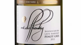 Mt. Difficulty 2012 Bannockburn, Mansons Farm, Late Harvest Pinot Gris Label